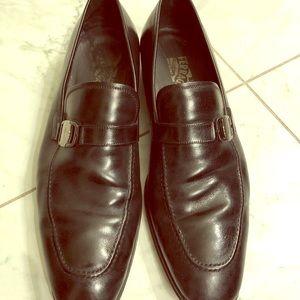 Salvatore Ferragamo black loafers